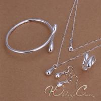 """Комплект в стиле Tiffany """"Серебряные капли"""""""