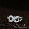 """Кольцо Бесконечность Tiffany """"Loving Hearts"""" с цирконами (16.5 17.3 18.2 19.0 размеры в наличии)"""