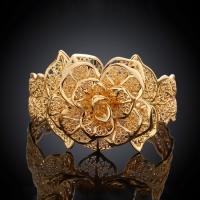 """Безразмерный браслет """"Шикарная золотая роза"""""""