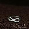 """Серебряное кольцо """"Бесконечность"""" (15.7 16.5 17.0 19.0 и регулируемый размеры в наличии)"""