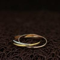 """Тройное кольцо """"Элегансе"""" (16.0 размеры в наличии)"""