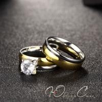 """Парные кольца из нержавеющей медицинской стали """"Мгновения любви"""""""