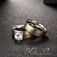 """Парные кольца из нержавеющей медицинской стали """"В знак любви"""""""