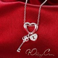 """Колье покрытое серебром """"Ключ к сердцу"""""""
