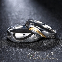 "Парные кольца для влюбленных ""Реальная любовь"""