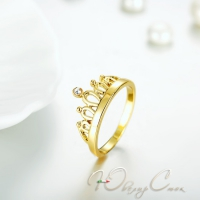 """Кольцо покрытое золотом """"Принцесса"""""""