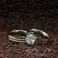 """Парные кольца из нержавеющей медицинской стали """"Ты моя любовь"""" [жен. 16.5 18.2 19.0 муж. 16.5 17.3 18.2 в наличии]"""