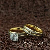 """Парные кольца из нержавеющей медицинской стали """"Любовь навсегда"""" [жен. 16.5 17.3 18.2 19.0 муж. 16.5 17.3 18.2 размеры в наличии]"""