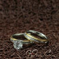 """Парные кольца из нержавеющей медицинской стали """"Love is..."""" [жен. 16.5 17.3 18.2 19.0 муж. 16.5 17.3 18.2 19.0 размеры в наличии]"""