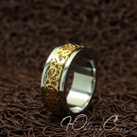 """Вращающееся кольцо из нержавеющей медицинской стали """"Настроение"""" (18.2 20.0 размеры в наличии)"""