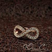 """Кольцо с бесконечностью """"Золотая Бесконечность"""" (16.5 17.3 18.2 размеры в наличии)"""
