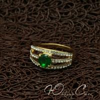 """Кольцо покрытое золотом """"Je taime"""" (17.3 18.2 размеры в наличии)"""