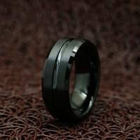 """Кольцо из карбида вольфрама """"Черный Шик"""" (20.0 размер в наличии)"""