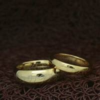 """Кольца для пары """"The Lord of the Rings"""" [жен. 15.9 16.5 17.3 18.2 19.0 муж. 17.3 18.2 19.0 20.0 21.5 22.3 23.8 размеры в наличии]"""