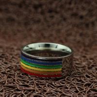 """Широкое кольцо """"ЛГБТ"""" (18.2 19.0 20.0 20.7 21.5 размеры в наличии)"""