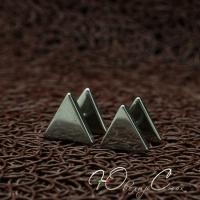 """Мужские пуссеты из нержавеющей медицинской стали """"Triangle"""""""