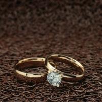 """Парные кольца с большим кристаллом """"Обручальные"""" [жен. 15.9 16.5 17.3 18.2 муж. 16.5 18.2 19.0 20.0 размеры в наличии]"""