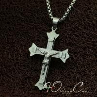 """Массивный крестик с распятием """"Православие"""""""