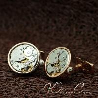 """Запонки - часы """"Cartier"""""""