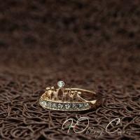 """Позолоченное кольцо """"Королева Мирабелла"""" (16.0 17.0 18.0 19.0 размеры в наличии)"""