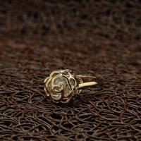 """Кольцо покрытое золотом """"Необыкновенная роза"""" (17.0 размер в наличии)"""