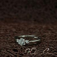"""Кольцо белое позолоченное """"Брависсимо"""" (16.5 размер в наличии)"""
