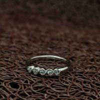 """Кольцо белое позолоченное """"Галактика"""" (16.5 размер в наличии)"""