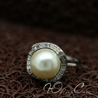 """Кольцо с жемчугом """"Дженни"""" (17.5 19.0 размеры в наличии)"""
