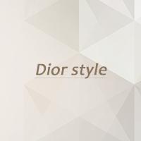 серьги в стиле Dior