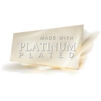 серьги покрытые платиной