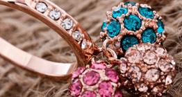 Оптовая продажа ювелирной бижутерии, кольца с покрытием золото, серебро, платина а также инкрустацией Swarovski Elements Swarovski Crystal